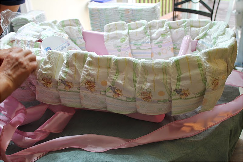 diy baby bath tub diaper cake