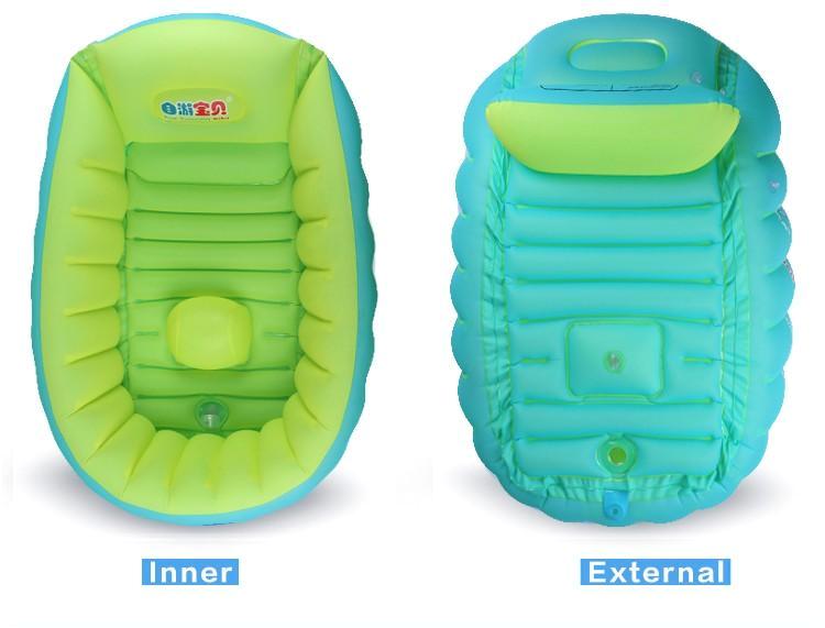 new baby inflatable bathtub swimming float safety bath tub swimming float kids infant portable folding bathtub pool basin