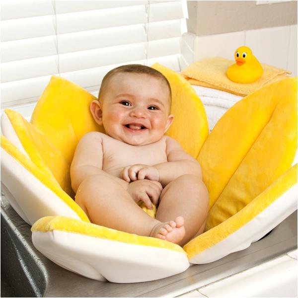 Baby Bathtub for Sink Bloomy Baby Bath Flower Sink Mat Yellow