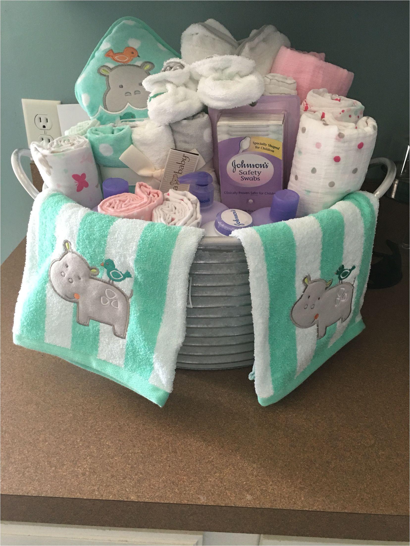 Baby Bathtub Gift Ideas Baby Shower Present I Made Galvanized Bucket with Baby
