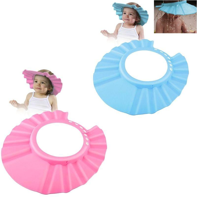 Baby Bathtub Hat Adjustable Baby Kids Shampoo Bath Bathing Shower Cap Hat
