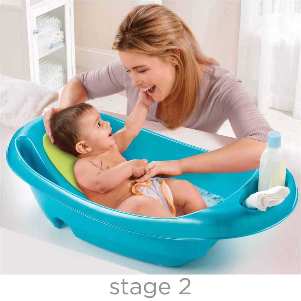 splish n splash newborn toddler bath tub blue