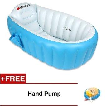 intime inflatable baby bath tub blue free hand pump