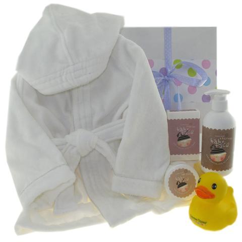baby face baby bath robe hamper