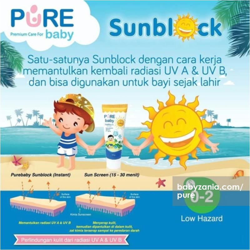 pure baby sunblock 100gr
