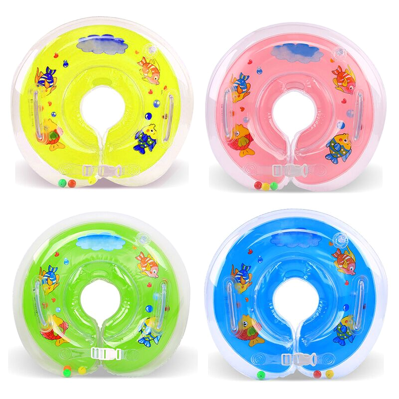 Baby Bathtub Neck Float Baby Bath Swimming Neck Float Inflatable Circle Adjustable