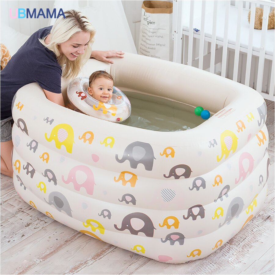 Baby Bathtub No 4th Floor Insulation Inflatable Square Plastic Safety