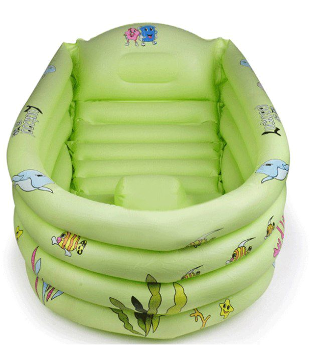 Baby Bathtub Online India Big Thick Green Inflatable Baby Bath Tub Buy Big Thick
