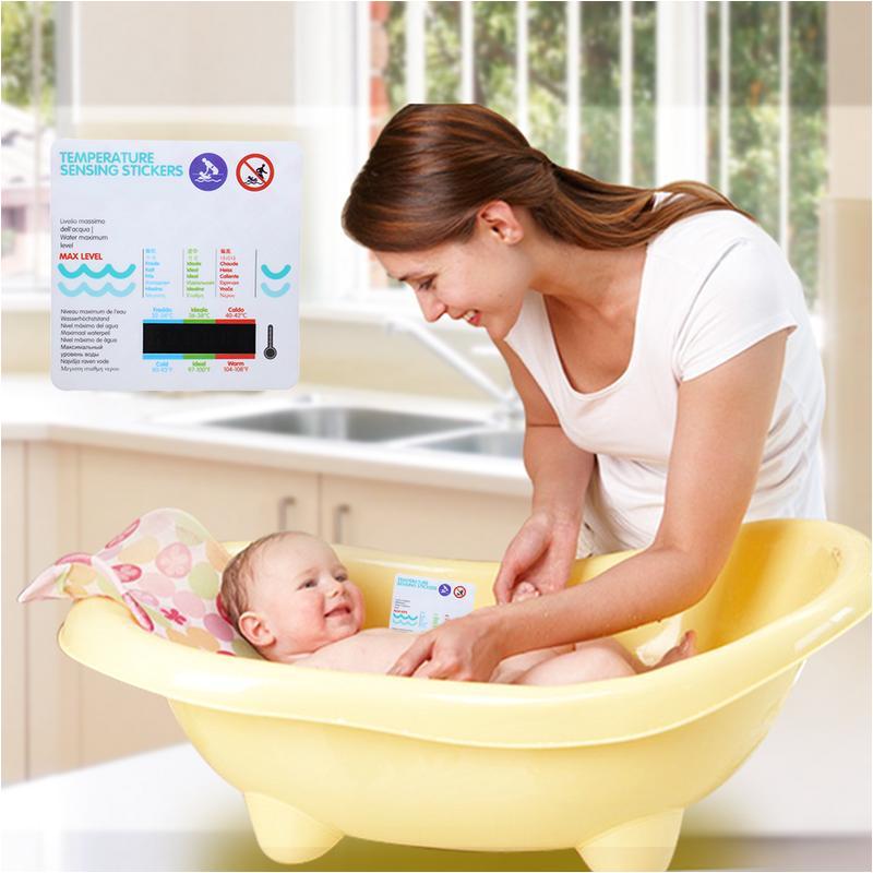 Baby Bathtub Stickers Baby Bath Water Temperature Measuring Card Bathtub Pool