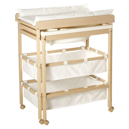 roba baby bath and changing table in one with pull out tub a