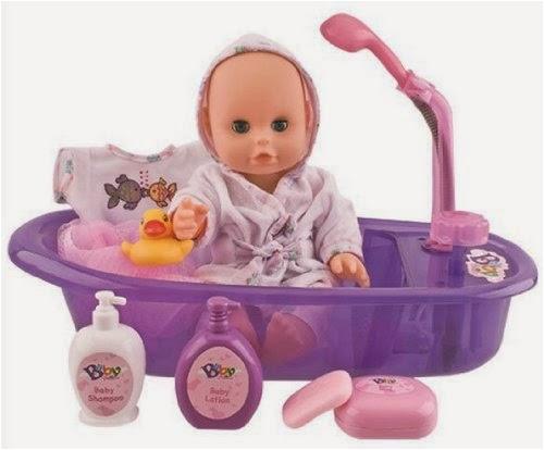 little baby 13 bathtime doll bath set