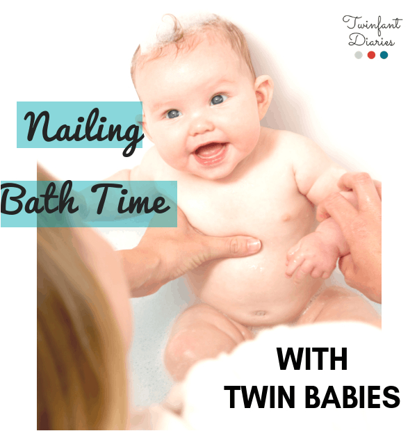 nailing bath time twins