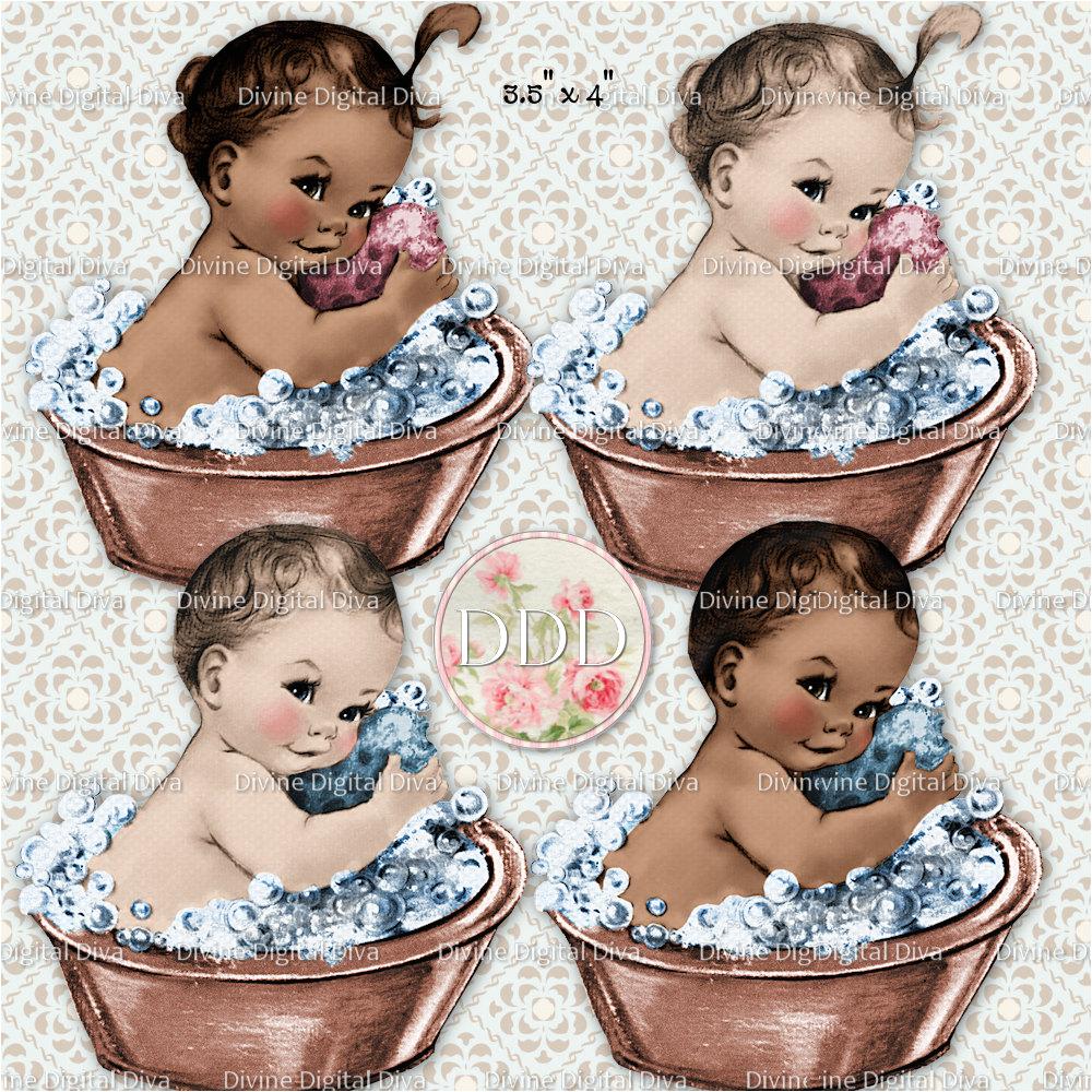 vintage washtub baby girl boy bath tub 2