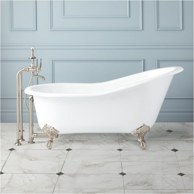 """Bath with Claw Foot Tub 61"""" Callaway Cast Iron Slipper Clawfoot Tub Imperial"""
