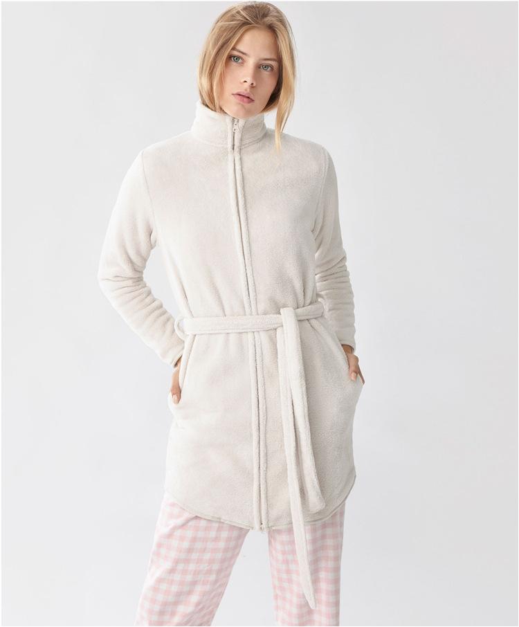 Bathrobes for Women/zipper Front Zip Front Dressing Gown for Women