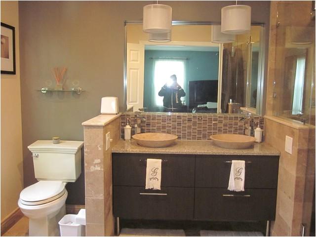 Master Bathroom Remodel with double sink Mahwah NJ modern bathroom new york