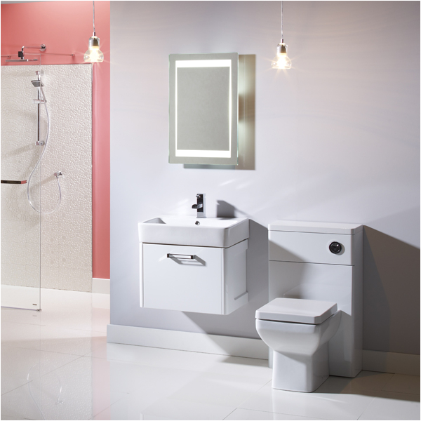 tavistock q60 white wall mounted vanity unit 575mm