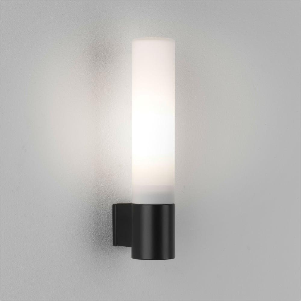 astro lights bari ip44 bathroom wall light in matt black p5569
