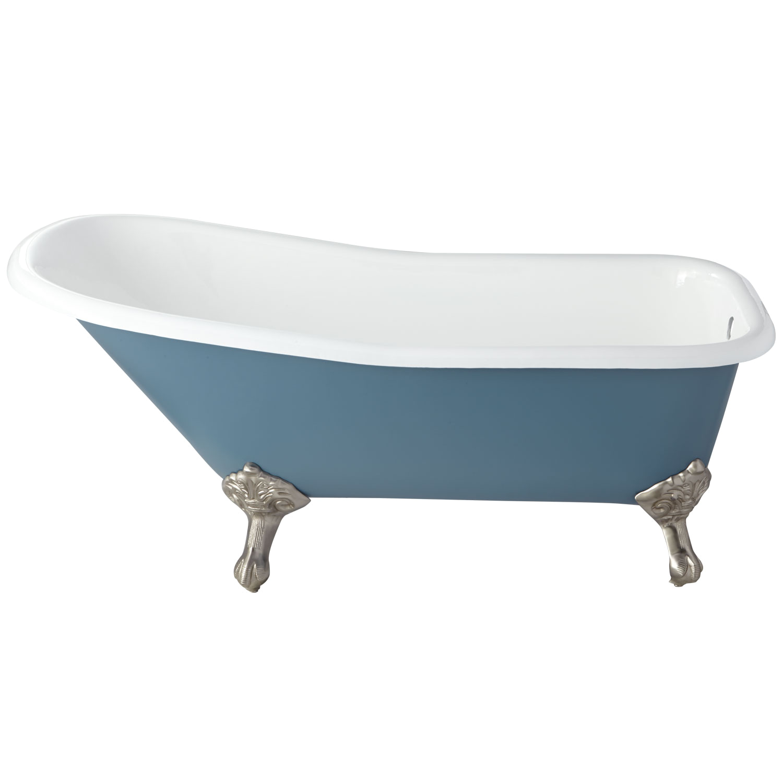 66 goodwin cast iron clawfoot tub imperial feet slate blue