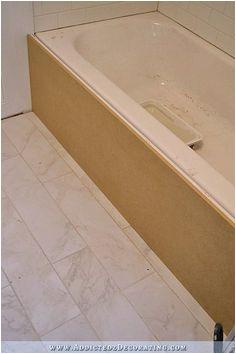 Bathtub Alcove Framing Diy Tub Skirt Decorative Panel for A Standard soaking