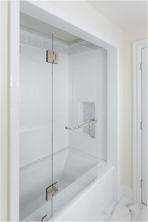 Bathtub Alcove Tiling Ideas Marble Tub Alcove Transitional Bathroom