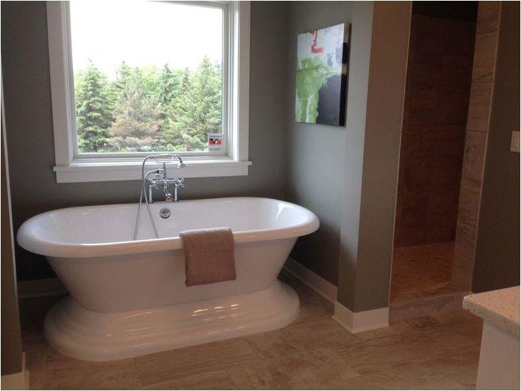 Bathtub Alcove Window Freestanding Bath Tub In the Master Bathroom In A Small
