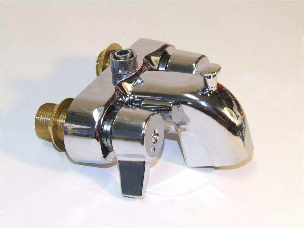 Bathtub Claw Foot Faucet Heavy Duty Chrome Clawfoot Tub Bath Diverter Faucet with 3