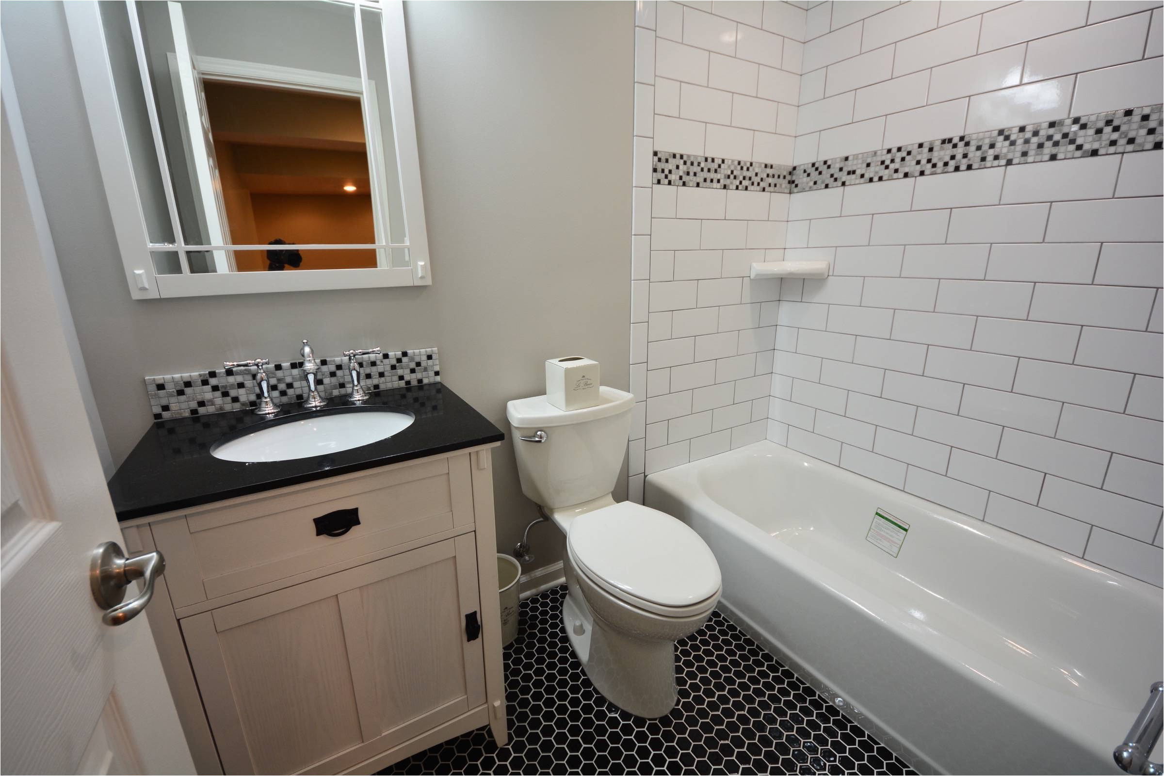 basement bathroom tiled tub surround ideas