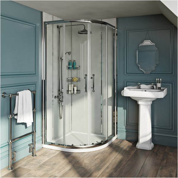 the bath co winchester 6mm traditional quadrant shower enclosure