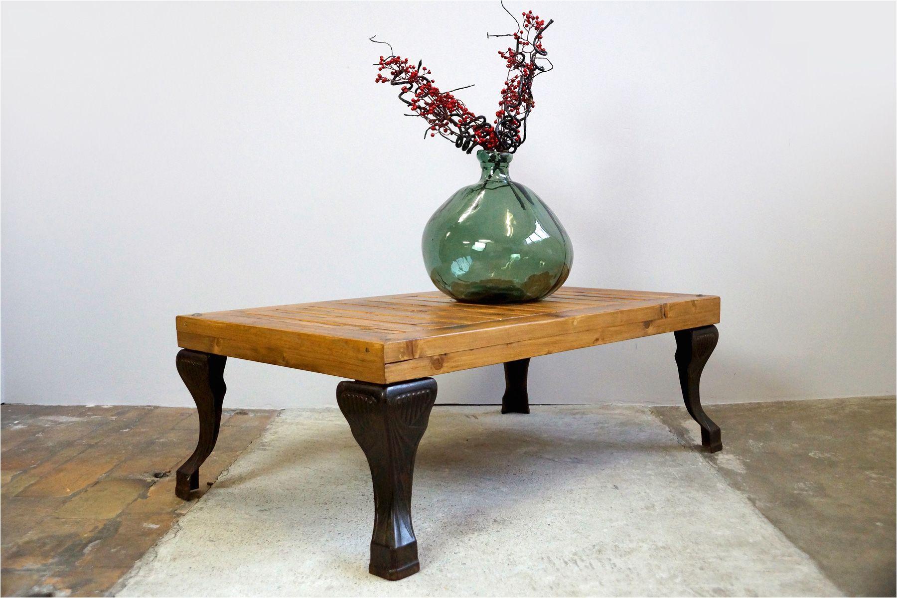 antique coffee table with bathtub feet