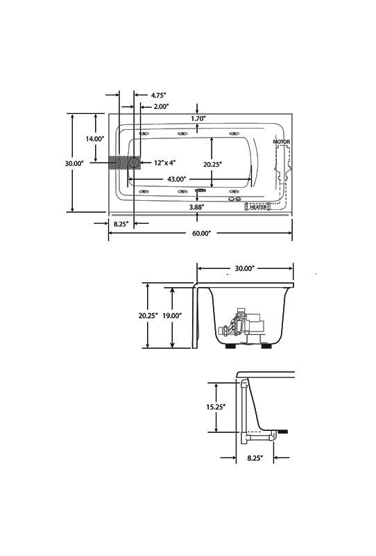 Bathtub Jacuzzi Size Jacuzzi J1s6030 Brx Xxx soaking Bathtub Build