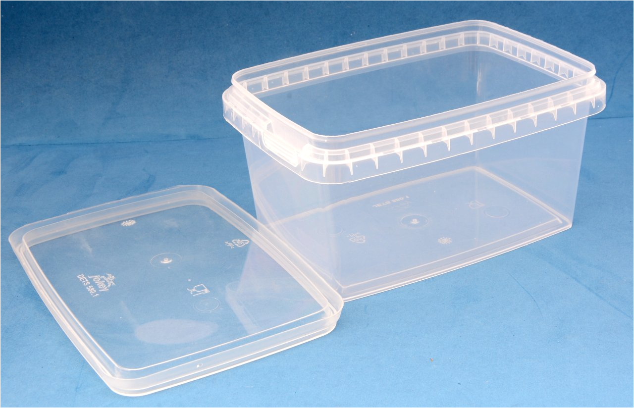 Bathtub Lid Uk 580ml Clear Rectangular Tamper Proof Tub with Lid Jars