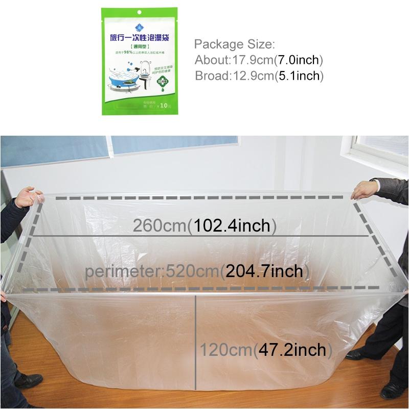 travel bathtub liner bubble bath bag disposable thickening spa tub cover bath mat 1 2 2 6m