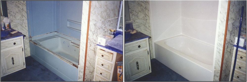 Bathtub Liner before and after Bathroom Remodeling In Salt Lake City and Bountiful Ut