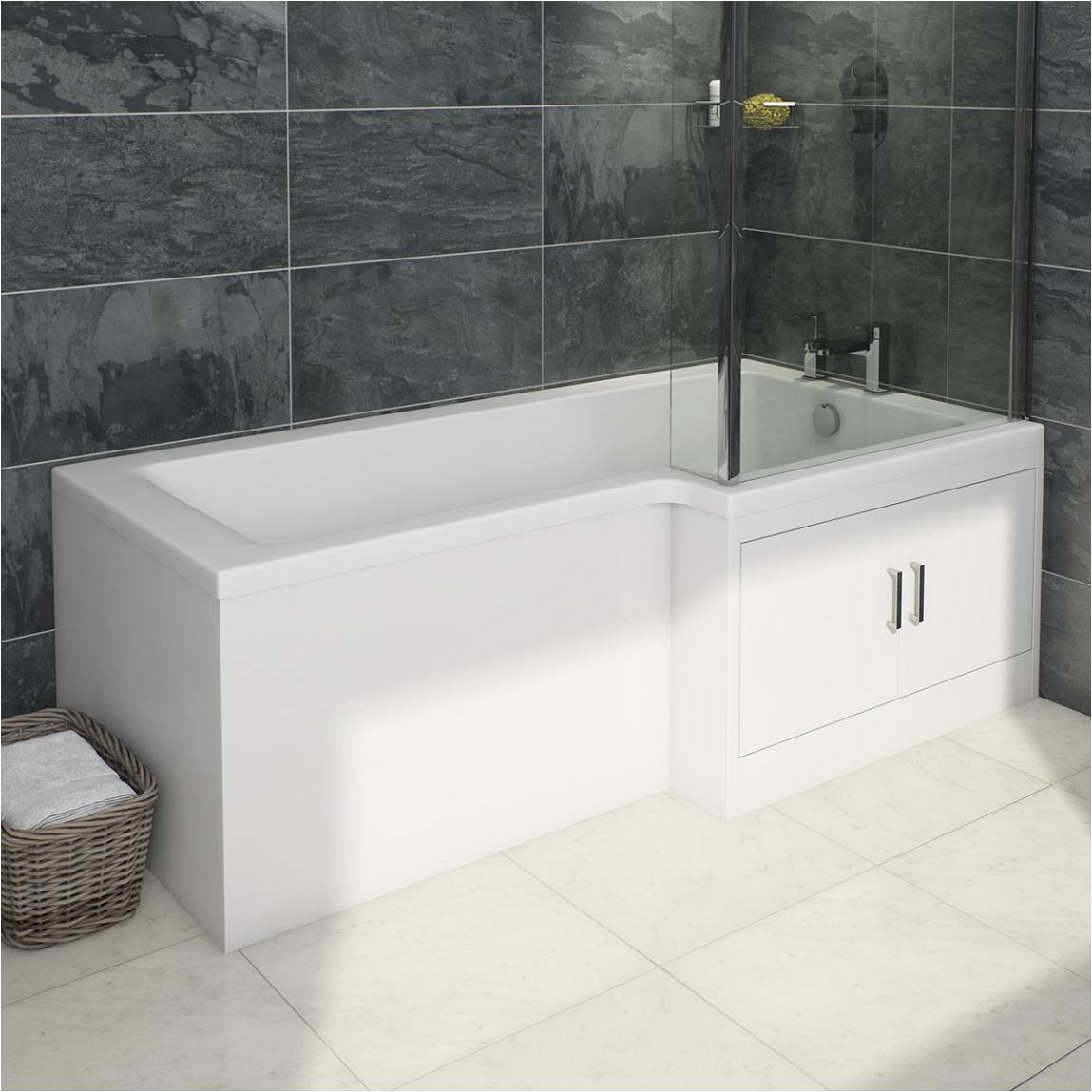 Bathtub Liner Water Storage Myspace Water Saving L Shape Shower Bath Right Hand with