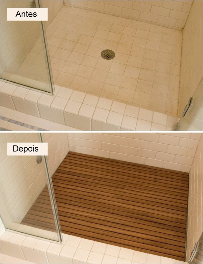 MLB deck de madeira para chuveiro banheiro piscina patio pronto JM