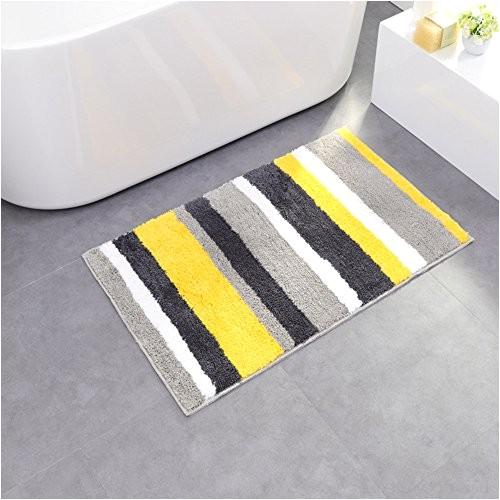 bath mat camal polyester stripe pattern water absorption bath rug kicthen mat 50x80 yellow b06y2dqfzm carpets and rugs