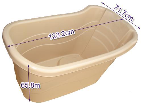 portable bath tub with drainage pipe
