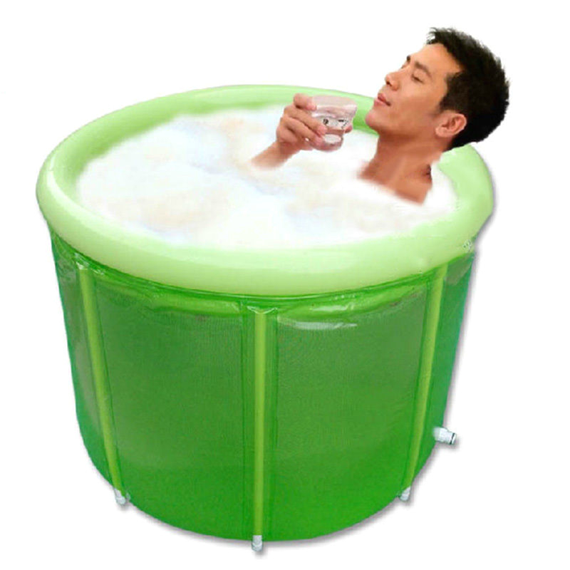 Bathtub Portable Sauna Adult Folding Bathtub Thicken Durable Spa Sauna Barrel