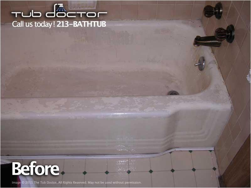 Bathtub Reglazing Ventura County before & after Gallery Tub Reglazing Bathtub Refinishing
