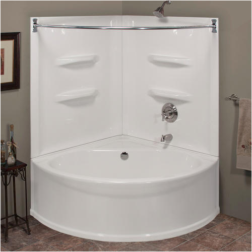 "Bathtub Stopper Menards Lyons Sea Wave™ V 48"" X 48"" X 20"" Center Drain soaking"