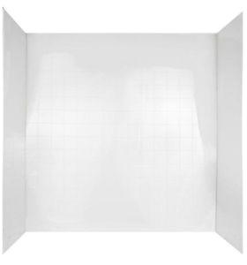 Bathtub Surround 3 Piece Peerless Three Piece Tub Wall Surround White Pvc 60h X