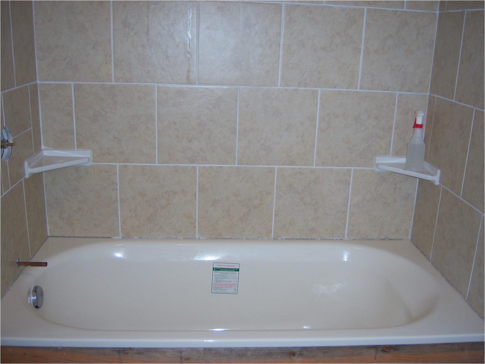 diy tile showertub surround