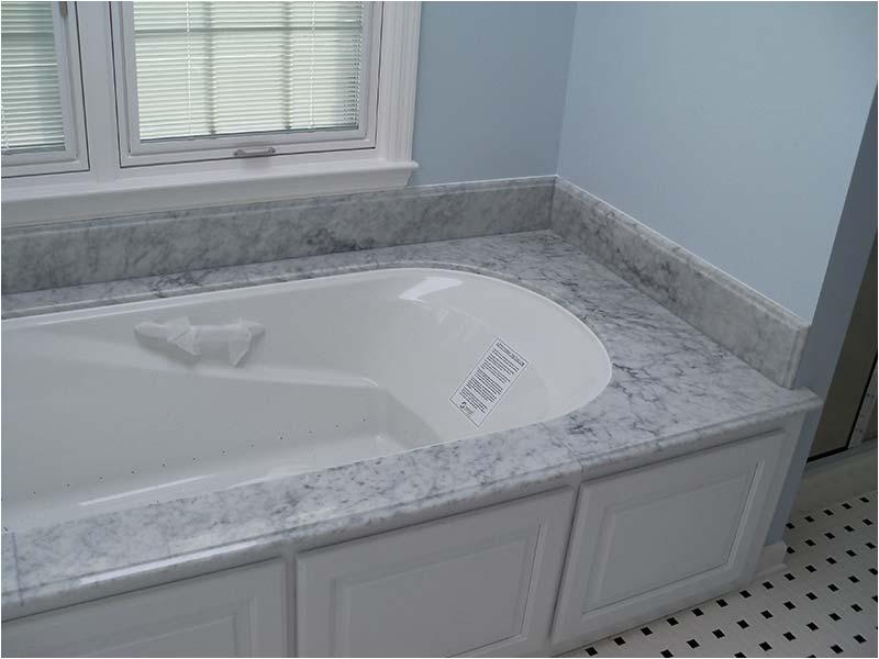 Bathtub Surround Grey Granite Marble Quartz In the Bathroom