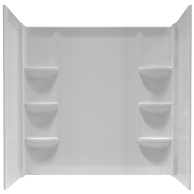 Bathtub Surround Kits Lowes Shop American Standard Saver High Impact Polystyrene
