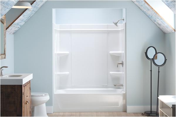 sterling offers a caulk free shower installation