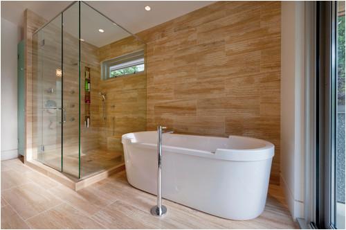 Bathtub Surround Looks Like Tile Wood Look Porcelain Tile In Bathrooms