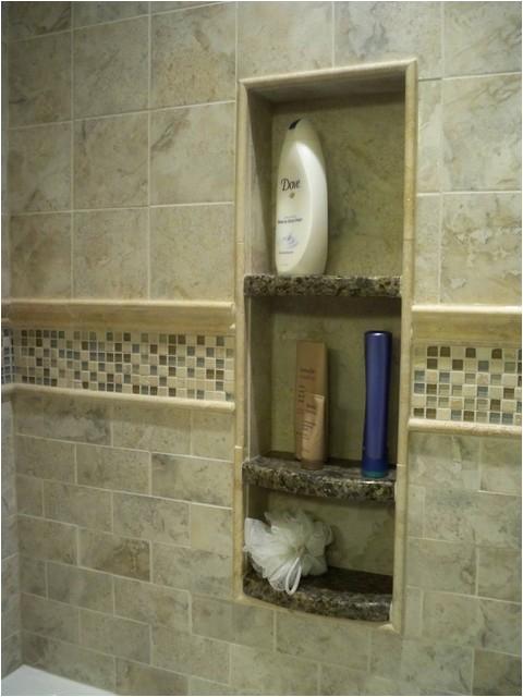 Tub surround storage niches and corner shelves traditional bathroom philadelphia