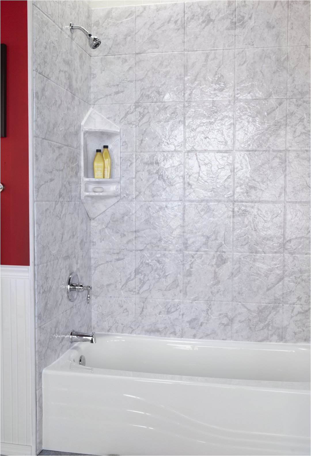 Bathtub Surround or Tile Stone Shower Wall Panels Kits Lowes Tub Surround solid