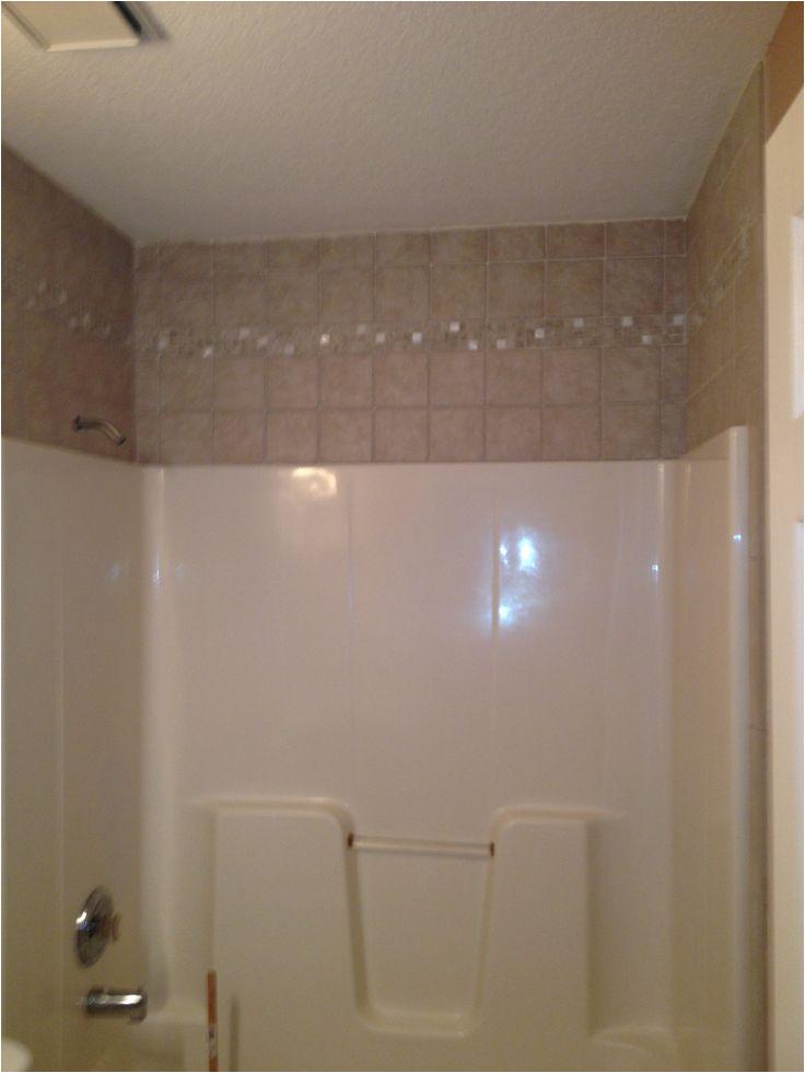 Bathtub Surround Over Tile Tile Around the the Fiberglass Tub